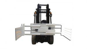 फोर्कलिफ्टसह मोठी ओपनिंग रेंज लिफ्ट ट्रक संलग्नक गठ्ठा क्लॅम्प उपकरणे